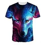 Imbry Men's 3D Galaxy Print Round Neck Casual Street Wear Short Sleeve T-Shirt