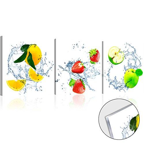 murando - Acrylglasbild Zitrone 120x40 cm - Bilder Wandbild - modern - Decoration Apfel Erdbeere 030207-27