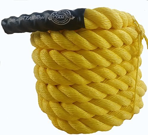 "ESSKAY UTTAM Gym Exercise Rope (1.5 "" Thick / 30 Feet Exercise Rope) Battle Rope;Battle Rope"