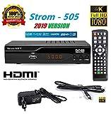 hd-line Strom 505 DVB-T2 Receiver - HEVC/H.265 - H.264 / MPEG2 - MPEG4 / 1080i - 1080p Standard (Full HD 1080P, HDMI, SCART, USB 2.0) - Automatische İnstallation Schwarz