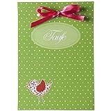 Taufkarten 'Birdy' - 15 Einladungen, 15 Dankeskarten und passende Platzkarten im Set - zum einfach Selbstbedrucken