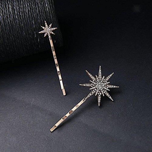ELECTROPRIME® 18Pcs Women's Beauty Crystal Crescent Moon Star Headwear Hairpin Hair Clip