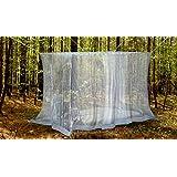 Naturo - Mosquitera exterior (tamaño grande, incluye 2 pulseras repelentes de insectos, kit de colgado, bolsa de transporte y ebook gratuito)