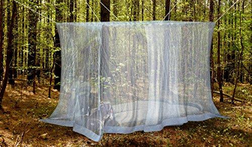 #1 Outdoor By NATURO-The Mosquito Net-Zanzariera da letto più A baldacchino-Repellente per insetti Malaria Zika-Free Bonus: 2 Bracciali repellenti per insetti, un Kit per appendere, borsa per il trasporto con lettori di E-Book