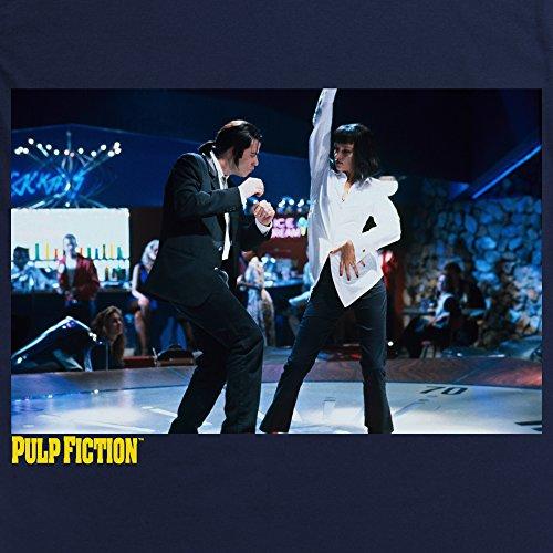 Official Pulp Fiction - Jack Rabbit Dancing Felpa girocollo, Uomo Blu navy