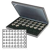 Münzenkassette NERA M [Lindner 2364-2506CE] mit schwarzer Münzeinlage