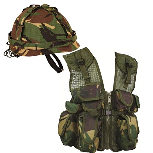 Kinder Armee Geschenk Set, British Forces Military Commando Camouflage Camo (Set (Commando Fancy Dress)
