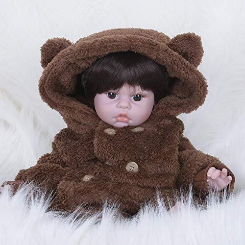 Hongge Reborn Baby Doll,Reborn muñeca Reborn muñeca del juguete muñeca rápida venta ebay Amazon extranjeros comercio exportación simulación Reborn muñeca realista vivo Muñeca muñeca realista sobrenatural chica con hermoso vestido para año nuevo regalos de Navidad 55cm