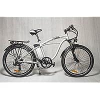"IVEMA - E-Bike DESIGNBIKE 26"" CITYBIKE PEDELEC CRUISER Elektrofahrrad Fahrrad Tourenrad Mountainbike - Akku Li-ion 36 V Weiß"