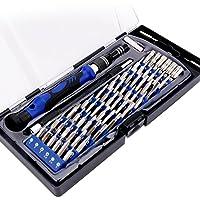 Destornilladores de Precisión Profesionales,FlePow 60 En 1 Kit De Herramientas de Precisión para Todo Tipo de Tornillos,para Móvil,Tablet, PC,Cámara,Reloj etc.