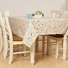 X&L mesa de té Estampado de tela de algodón y lino mantel de impresión a prueba de polvo y resistente al aceite simple mantel sala anexa para los hogares partido de picnic , 140x140cm