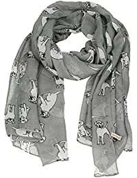 Reeva Labrador Cute Dog Ladies Scarves Womens Designer Scarf - SWANKYSWANS