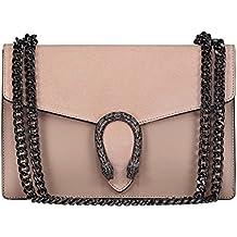 MYITALIANBAG RONDA Sac à main Baguette Pochette, sac à bandoulière avec  chaîne en nickel 0d9f45405bb