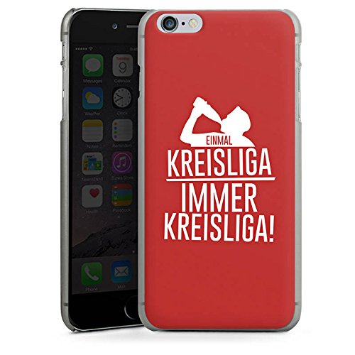 Apple iPhone X Silikon Hülle Case Schutzhülle Einmal Kreisliga Fußball Sprüche Hard Case anthrazit-klar