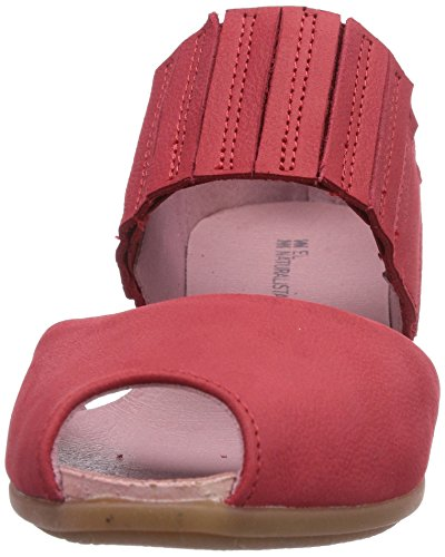 El Naturalista Stella N030, Damen Peep-Toe Ballerinas Rot (Grosella)