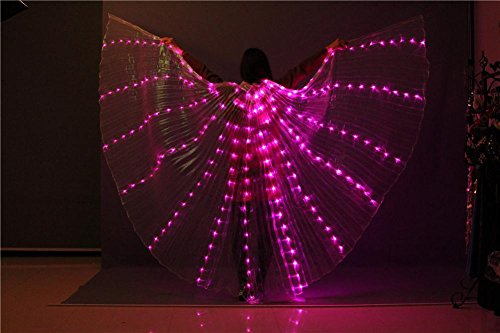 Light Stick Kostüm - Wgwioo Frauen Belly Dancing Isis Wings