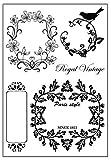 Scrapbook transparent Stempel Kaffee ♣ buyby Stamping DIY Verzierungen Karten Terminplanung Handgefertigtes Fotoalbum, Silikon, Flower Vine, L