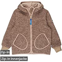 Finkid Tonttu Wind navy Kinder Zip In Wollstrick Fleece Windstop Jacke