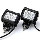 JVJ® 2x 4 pollici 18W Cree luce del lavoro del LED Lamp Bar per il motociclo Trattore Barca Fuoristrada 4WD 4x4 camion SUV ATV 12V 24V
