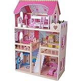 Rêve Mansion maison de poupée Villa résidentielle - en bois - avec meubles - Dimensions 59 x 33 x 90 cm
