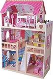 Leomark Casa delle bambole Sogno Mansion in legno + mobili e...