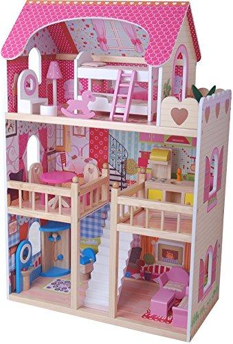 Leomark Casa delle bambole Sogno Mansion in legno + mobili e accessori