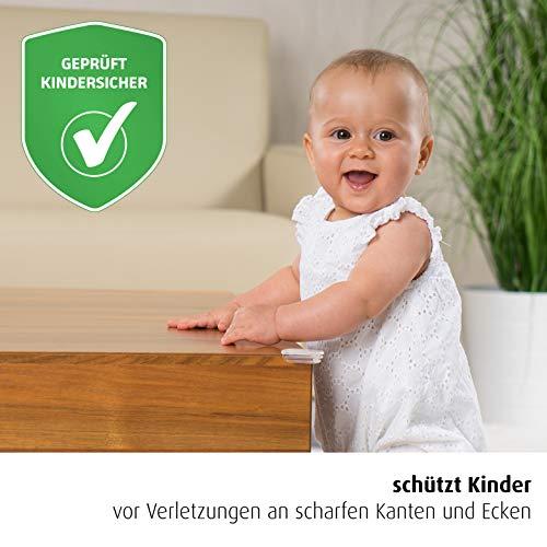 reer Ecken-Schutz fürs Baby 82020, starker Halt, geprüft kindersicher, 12 Stück, transparent -