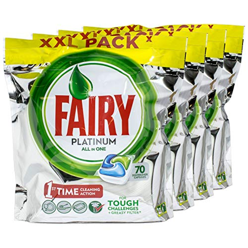 Fairy Platinum All in One Geschirrspültabs 70 Tabs - 4 Stück pro Pack
