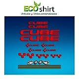 ECOSHIRT Aufkleber Cube Bike UCI MTB Vinyl ADESIVI Decal Aufkleber Purpur(Talla M), MTB Stickers Bike, Rot