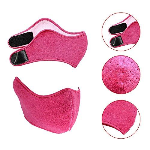 TianranRT Taktisch Motorrad Radfahren Jagd Outdoor Ski Gesicht Maske Helm (Hot Pink) (Pink Box-taschenlampe)