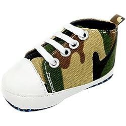 Zapatos para bebé, Culater Patucos de Colorido Niñas Niños 0~18 meses (3~6 Meses, Camuflaje)