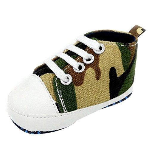 Zapatos para bebé, Culater Patucos de Colorido Niñas Niños 0~18 meses (0~3 Meses, Camuflaje)