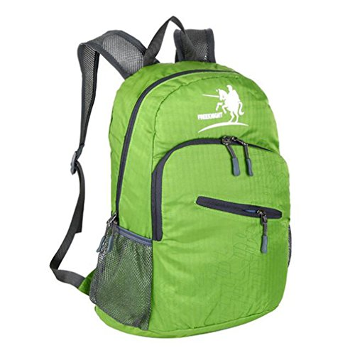 Wmshpeds Gli uomini e le donne di moda generale zaino casual 25L sacca pieghevole borsa da viaggio ultra-light in borsa D
