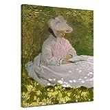 Bilderdepot24 Kunstdruck - Alte Meister - Claude Monet - Die Lesende - 30x40cm Einteilig - Leinwandbilder - Bilder als Leinwanddruck - Bild auf Leinwand - Wandbild