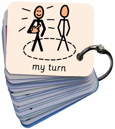 'Behaviour' Picture Symbol Card Keyring (AAC)