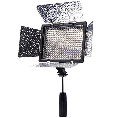 Yongnuo YN300-II Profi 300 LED-Videoleuchte Kamera Panel mit 4 Filter (3200k-5500K einstellbar)
