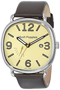 Hush Puppies Orbz Men's Automatic Watch with Beige Dial Analogue Display and Beige Leather Strap HP.7102M.2519