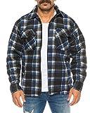 Holzfällerhemd Arbeitshemd Flanellhemd/Jacke Kariert Thermohemd gefüttert 05 (XL, Blau/Weiß) für Holzfällerhemd Arbeitshemd Flanellhemd/Jacke Kariert Thermohemd gefüttert 05 (XL, Blau/Weiß)