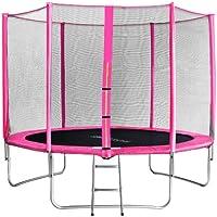 SixBros. SixJump 3,05 M Gartentrampolin Pink Intertek / GS geprüft Trampolin - Leiter - Sicherheitsnetz - Wetterplane - TP305/1694