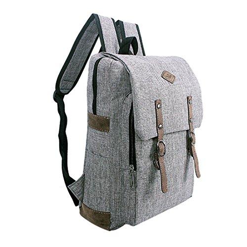 Echofon Canvas Rucksack Laptop-Tasche Computer Tasche Rucksack Daypack Sporttasche Reisetasche Wandern Bag Camping-Tasche