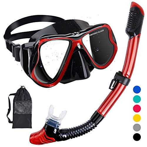 HENGBIRD Schnorchelset Tauchbrille mit Schnorchel Panorama-Sicht Professionelle Tauchmaske für Erwachsene