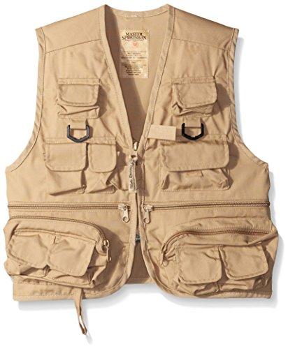 Master Sportsman Kinder Angelweste mit 26 Taschen, Unisex, Khaki, X-Large -