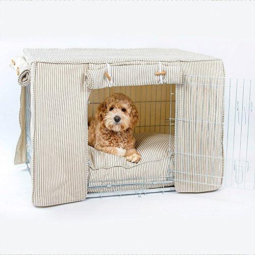 Regency Stripe Hundebox Cover von Lords & Labrador