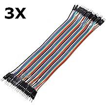 Ils - 120Unids 20cm Macho a Macho Dupont Cable de Puente de Color para Placa de