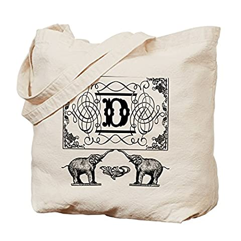 CafePress Tasche–Buchstabe D kunstvollem Circus Elefanten Monogramm Tote