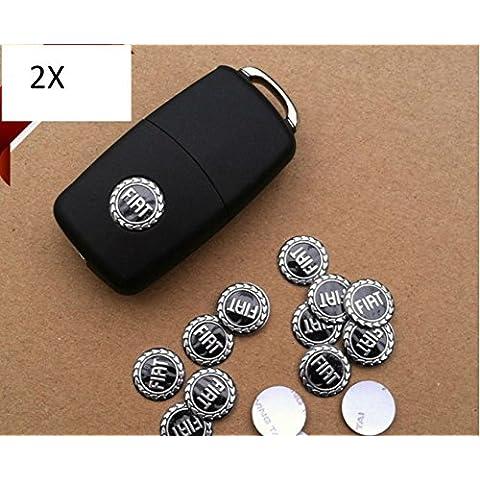 2 pegatinas recambio LOGO FIAT panda cáscara llaves aluminio 500 punto mando a distancia