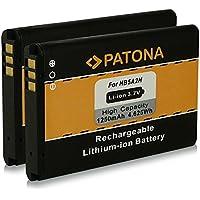 2x PATONA Batería BTR7519 HB5A2H para Huawei C5730 C8000 C8100 E5805 EC5808 HB5A2H HiQQ M228 M750 EX300 PINNACLE 2 M636 Pulse Mini T550 T552 T-Mobile Tap U1860 U3100 U7510 U7519 U7520 U8100 U8110