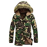 Luckycat Herrenmode Camouflage Wintermantel Verdickung Baumwolle gefütterte Winterjacke Winterjacke Steppjacke Daunenjacke Parka Mäntel Jacken