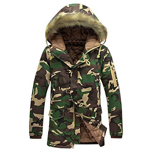 Luckycat Herrenmode Camouflage Wintermantel Verdickung Baumwolle gefütterte Winterjacke Winterjacke Steppjacke Daunenjacke Parka Mäntel...