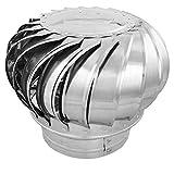 PrimeMatik - Schornsteinabdeckung rotierend Kaminhaube schützt vor Wind für 300 mm Rohre
